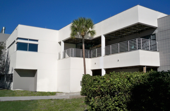 Hillsborough Community College - Science/ Administration Building 601 and Entrance Driveway